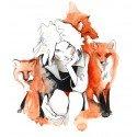 """""""Foxes"""" - 21x21cm"""