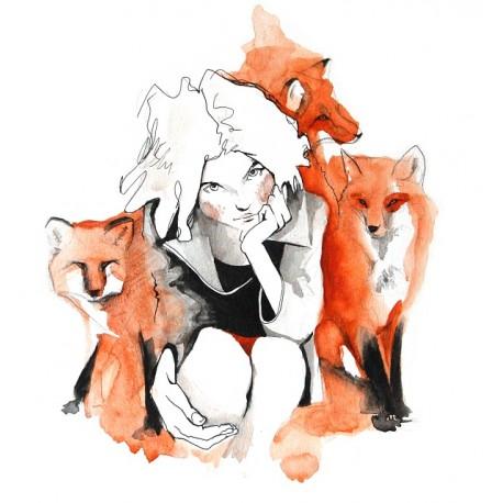 Foxes - 21x21cm