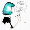 """Kiss Me"" 30x30cm"